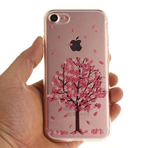 """Coque Case pour Apple iPhone 7 4.7"""" Délicat Dessin Mandala Noir Ultra Fine Transparente Souple TPU Gel Couleur19"""