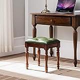 BOOSC Fashion Home Stool European Style Leather Stool Square Peut être placé dans...