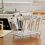 In acciaio inox essiccazione rack stand,Acciaio capovolto rack per rack di stoccaggio cremagliera liquore uso domestico per cucina tazza stand portavassoi-A