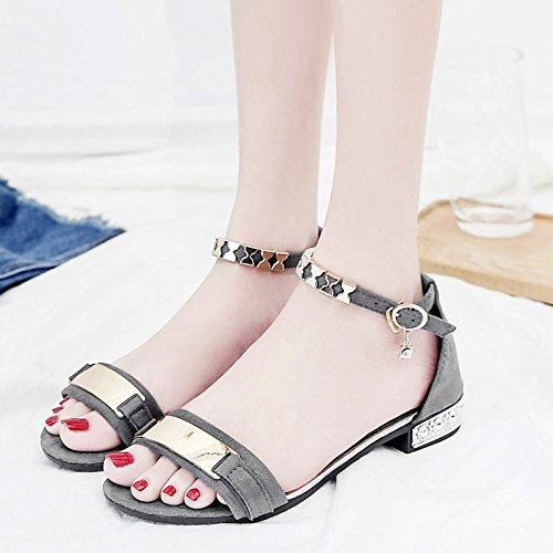 XY&GKDonna Sandali Toe sandali All-Match moda estate scarpe, 36, Grigio,con il migliore servizio 38gray