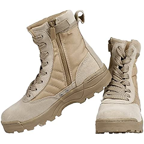 SaySure - High SANDYhawk tactical boots lightweight desert combat boots 511 Summer breathable boots (COLOR :SANDY | SIZE : 8) by SaySure