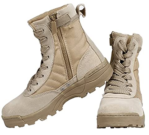 SaySure - High SANDYhawk tactical boots lightweight desert combat boots 511 Summer breathable boots (COLOR :SANDY | SIZE : 8)