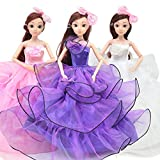 SLONG Girl Dress Up Doll Set 3D Eye Gift Box Wedding Dress Princess Children ' S Toy