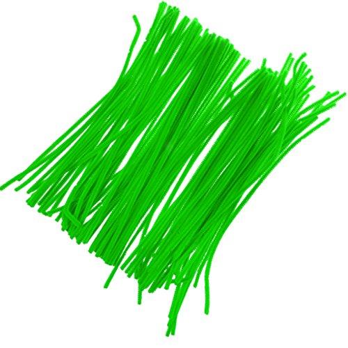 cable-peluche-cure-pipes-tige-de-chenille-artisanat-denfant-accs-vert-fluorescent
