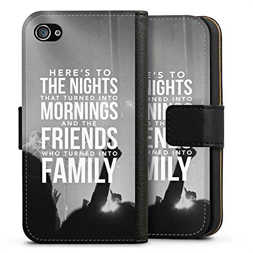Apple iPhone X Silikon Hülle Case Schutzhülle Freunde Familie Sprüche Sideflip Tasche schwarz