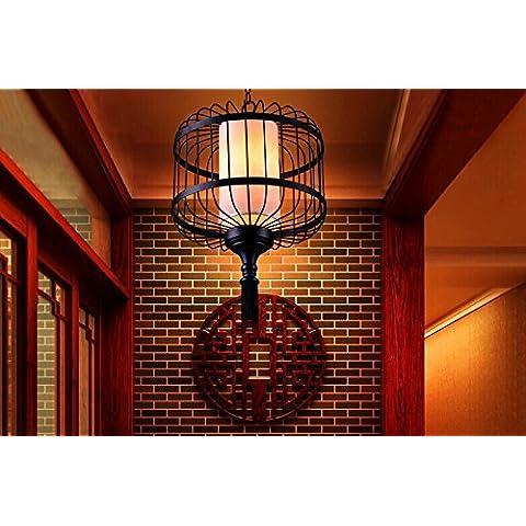 RFF-stile europeo creativo unico Moderna di Ferro Lanterna lampadario antico uccello gabbia ristorante hotel 420 X 550 (mm)-MEIXI&