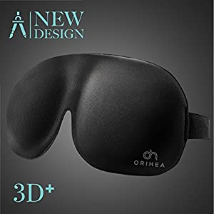 Schlafmaske, OriHea absolute Dunkelheit Schlafbrille,3D PLUS gro?e Augenmaske