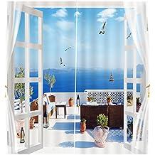 be768287ea0e86 Homyl Gardinen Blickdicht Vorhang Verdunklungsvorhang Verdunklungsgardinen  mit Hacken,65x30 zoll,für Küche Wohnzimmer Kinderzimmer