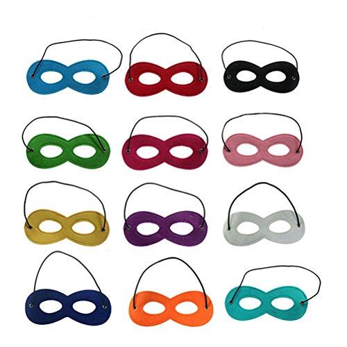Tinksky Helden Masken Kinder Cosplay Masken Augenmasken Filz Halbe Masken mit Elastik Seil Für Kinder Maskerade Halloween Party, Packung von (Maske Rote Halloween)