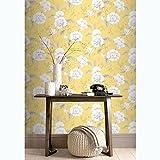 Boutique Floral Wallpaper Yellow Rasch 226164