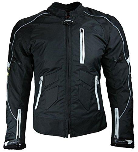 Heyberry Damen Motorradjacke Kurz Textil Schwarz Weiß Gr. S / 36 - 2