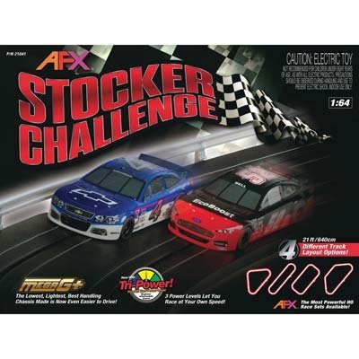 AFX Stocker Challenge, HO Scale Slot Car Racing Track Set by AFX