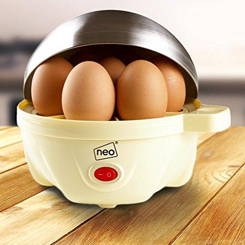 51UABKKeaWL. SS500  - Neo® Durable Stainless Steel Cream Electric Egg Cooker Boiler Poacher & Steamer Fits 7 Eggs