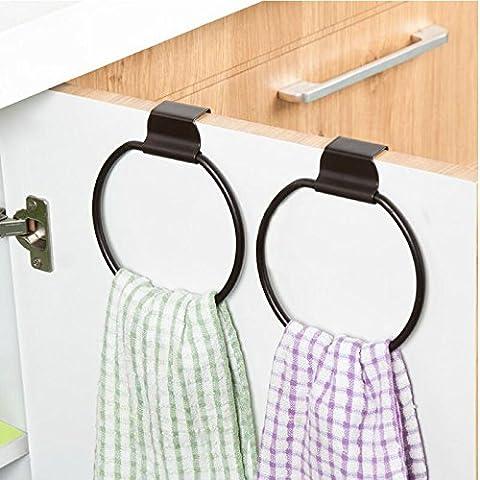 La porte de l'armoire de cuisine en arrière-fer à repasser sèche-serviettesRonde Hang towel rack polyvalents (Porta In Acciaio Inox Indietro Bar)