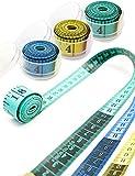 HOMETOOLS.EU® - Profi Maßband 1,5m | Messen beim Schneidern | mit Aufbewahrungs-Behälter Box 1,5m 150cm (blau)
