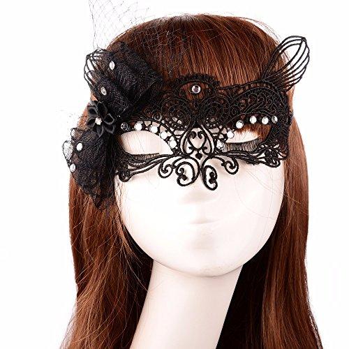 ,Spaß Nachtclub Bar-Spitze Make-up Halbmaske Masquerade ()