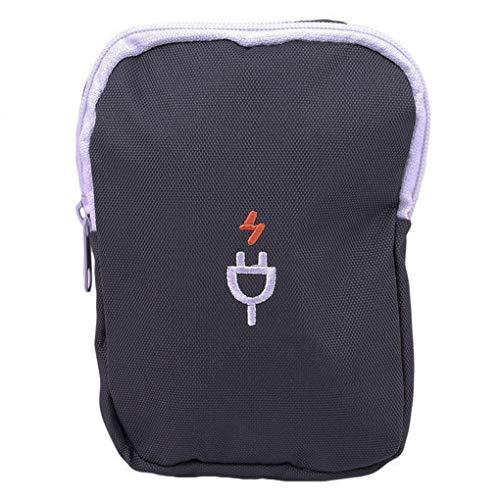 Kongnijiwa Reise Elektronik-Zubehör Aufbewahrungstasche Headset Ladegerät Tasche, Datenkabel Veranstalter, Oxford Tuch Datenkabel Tasche Unisex-Beutel Oxford Cloth