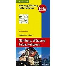 Falk Regionalkarte Nürnberg - Würzburg - Fulda - Heilbronn 1:150 000