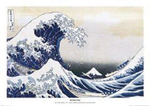 empireposter - Hokusai, Katsushika - The Great Wave - Größe (cm), ca. 91,5x61 - Poster, NEU - Die Maßangaben beinhalten die weiße Umrandung. - Katsushika Hokusai