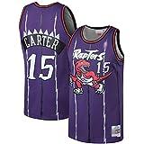 TOPSTEE Camisetas de baloncesto Vince Toronto NO.15 Raptors Carter Mitchell & Ness 1998-99 Hardwood Classics Swingman Jersey