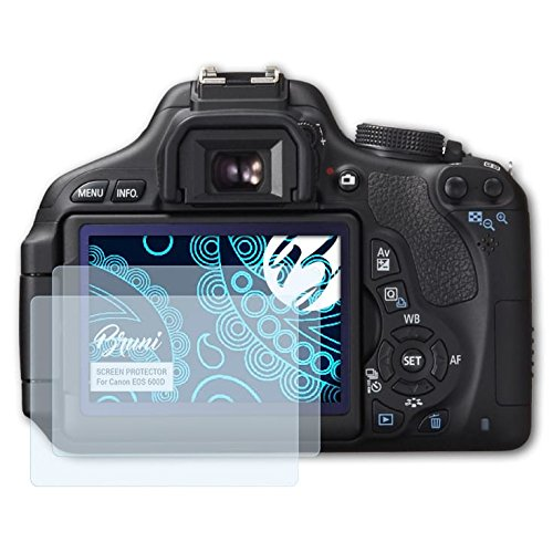 Bruni Schutzfolie für Canon EOS 600D/Rebel T3i Folie - 2 x glasklare - Canon Rebel Eos Digital T3i