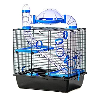 Pet Ting Jackson Hamster Cage with Tubes Wheel Gerbil Mouse Mice Dwarf Hamster by Pet Ting