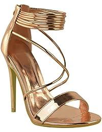Sandales à talons hauts - à brides - soirée/fête - femme