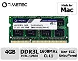 Timetec Hynix memoria 4GB DDR31600MHz PC3-12800SODIMM per selezionati IC compatibile con Apple MacBook Pro, iMac, MacMini