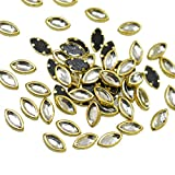 #5: Embroiderymaterial Kundans for Jewellery,Craft,Embroidery Making(Marquise Shape 4MM 500 Pieces)
