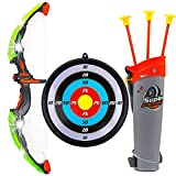 IndusBay Kids Archery Toy Bow & Arrow Luminous Archery Shooting Set with Quiver