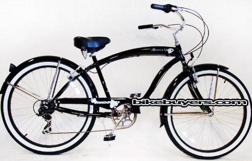 micargi-rover-7-speed-26-for-men-glossy-black-beach-cruiser-bike-schwinn-nirve-firmstrong-style-by-m