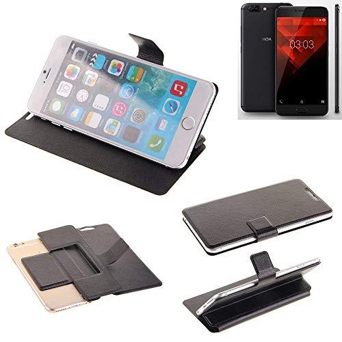 K-S-Trade Schutz Hülle für NOA H10le Schutzhülle Flip Cover Handy Wallet Case Slim Handyhülle bookstyle schwarz