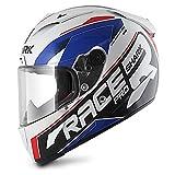 Motorradhelm Shark Race-R Pro Sauer - Weiss Blau Rot - XL