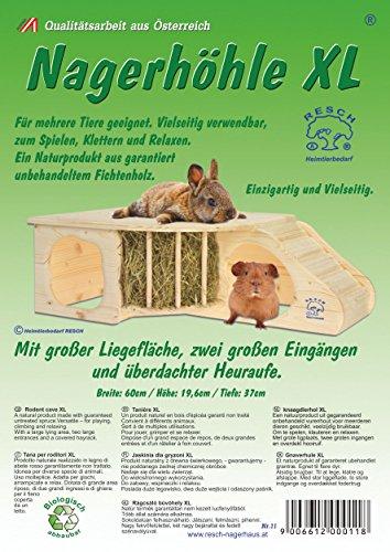 """Resch Nr. 11 """"Nagerhöhle XL"""" naturbelassenes Massivholz aus Fichte - 4"""