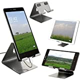 MOBIAS , Desktop Cell Phone Stand | Tablet Stand | Aluminum Stand | Mobile Smart Dock Mount | Advanced 4mm Thicknes | Supporting Both Vertical And Horizontal Viewing | Highly Moderate | Thoughtful Protection | Aluminum Stand Holder For Mobile Phone (All S