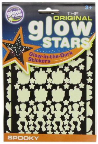 El Glowstars original Glow Compañía en las etiquetas engomadas oscuras Spooky