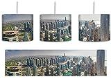 Dubai Hotel Burj al Arab inkl. Lampenfassung E27, Lampe mit Motivdruck, tolle Deckenlampe, Hängelampe, Pendelleuchte - Durchmesser 30cm - Dekoration mit Licht ideal für Wohnzimmer, Kinderzimmer, Schlafzimmer
