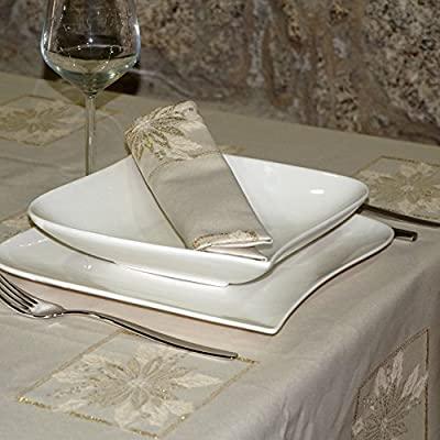 Luxury Christmas Tablecloth - Anti Stain Treated -In Large Sizes -