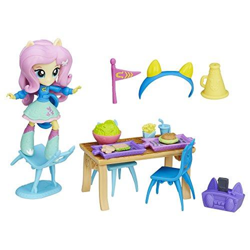 My Little Pony Equestria Girls Minis – Fluttershy Cantine d'Ecole – Mini Poupée + Accessoires