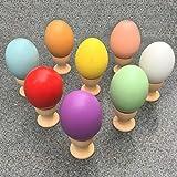 Coloré ultra réaliste bricolage simulation œuf en bois massif peint à la main Doodle Ege House Jouet Play Ege pour enfants - Couleur de bois brut