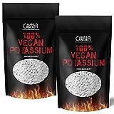 2 X 500 TABLETTEN - KALIUM/100% Vegan Potassium Gluconat, Hochdosiert 643mg/Tablette, Diät, Entschlackung, Entgiftung, Entwässerung