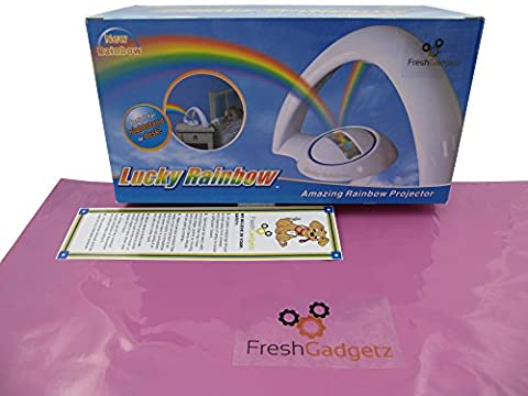 FreshGadgetz The Fantastic Rainbow Night Light Projector - Cast a Cosmic Projection & Coloured Light Sequences around your