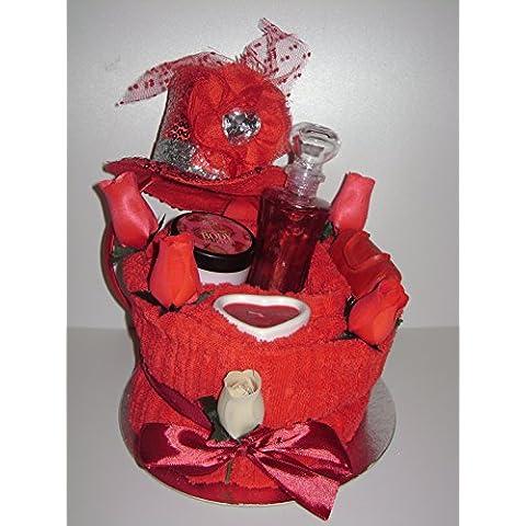 Día de la madre/cumpleaños señoras toalla de lujo de la torta del cesto con uñas gigante - regalo único Babysfirstnight