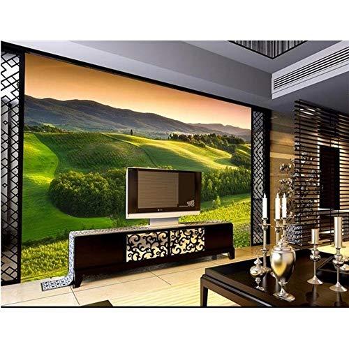 Lsfhb 3D Wallpaper Benutzerdefinierte Wandbild Vlies Wandaufkleber Green Forest Hill Malerei Foto 3D Tv Hintergrund Wandbilder Tapete-280X200Cm (Forest Halloween Hill)
