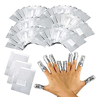 Yidarton 100 pcs Nail Polish Remover Nail Soak Off Gel Acrylic Polish Removal Foil Wraps with Cotton Pad