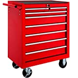 TecTake Tool cabinet cart workshop trolley on wheels | 7 drawer with ball