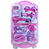 Tiny's world Doctor set Nurse family oprated Set Medical SuitcaseToy For Kids (Pink)