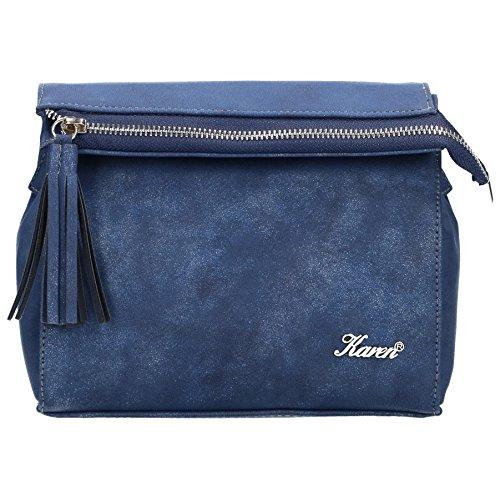 Elegante Damen Messenger bag, Clutch Tasche, Öko-Leder Umhängetasche mit regulierter Gürtel, Crossbody, kleine Handtasche für Frauen, PU leather women (Marineblau)