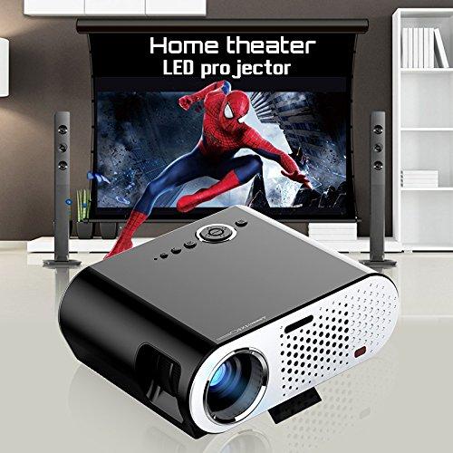Portable Multimédia 1280 * 800 Projecteur LED LCD 1080P Full HD LCD LED 3200 Lumens pour cinéma maison Cinéma Réalisation HDMI / VGA / USB / AV Beamer