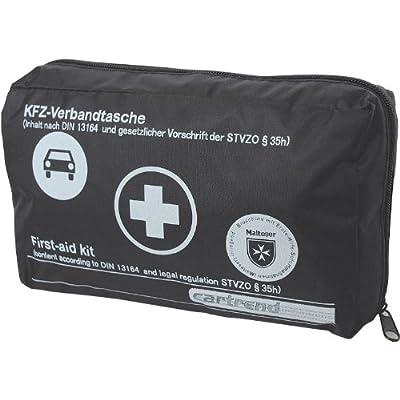 Cartrend 7730042 Verbandtasche, DIN 13164, mit Malteser Erste-Hilfe-Sofortmaßnahmen
